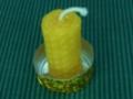 Honigkerze_im Teelichtdeckel mit Goldklebeband