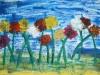 Malen und Kleben Kollage
